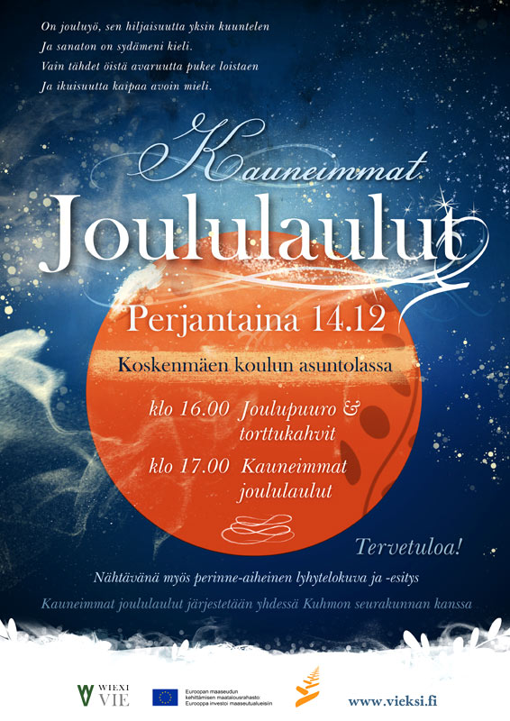 Kauneimmat Joululaulut 2012 juliste